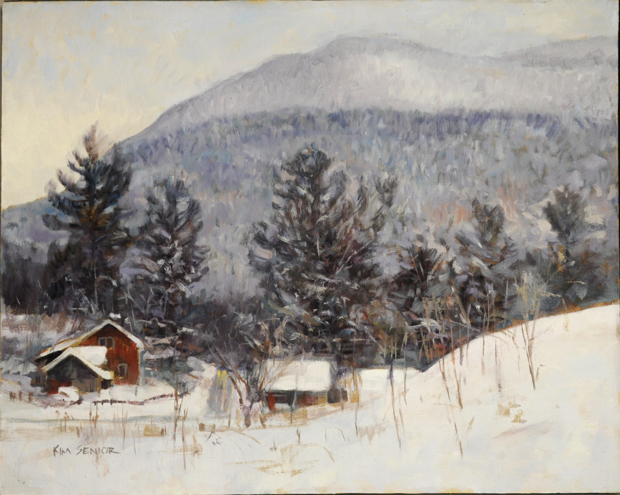 Oil painting After Snow Waterville by Kimberley Senior