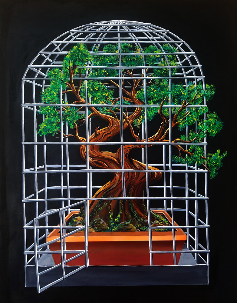 Bonsai In A Birdcage by Isaac Carpenter