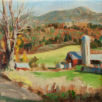 "Oil painting ""Red Barn Fairfax"" by Kimberley Senior"