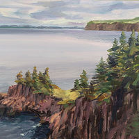 Oil painting Hay-Point by Kimberley Senior