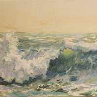 Oil painting Wave by Kimberley Senior