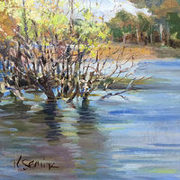 "Oil painting ""Spring High Water"" by Kimberley Senior"