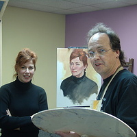Painting David Goatley, Victoria BC by Brian  Buckrell