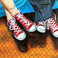"Oil painting ""Boogie Shoes"" by Gary Cheatham"
