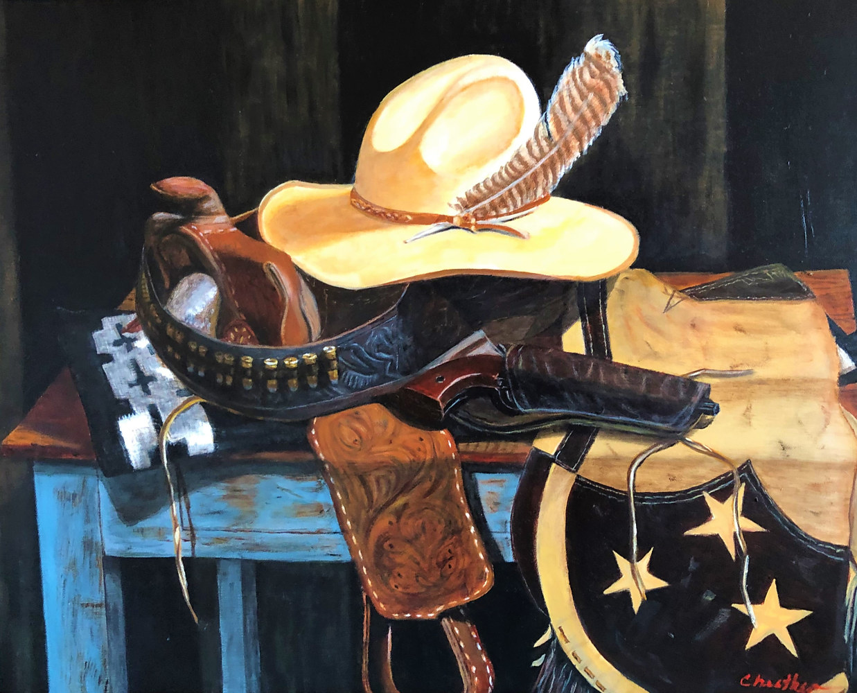 "Oil painting ""Nighthawk"" by Gary Cheatham"