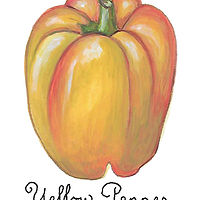 yellow pepper by Susan Lynch