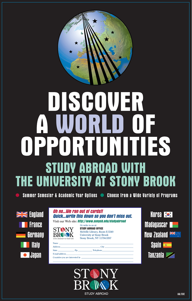 Study Abroad Poster by Steve Ferris