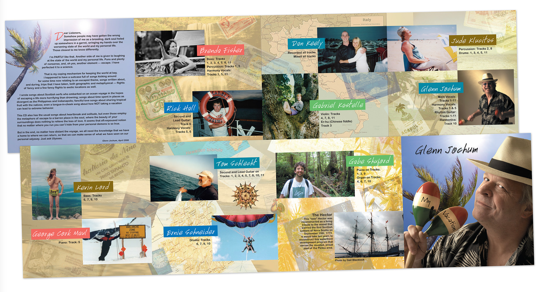 My Vacation CD Interior by Steve Ferris
