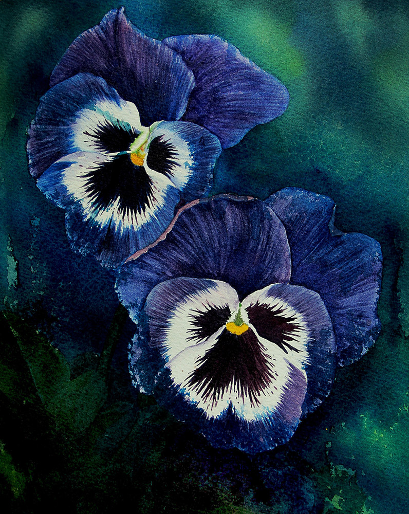 Painting Pansy's Portraits by Dianne Jane Gupta