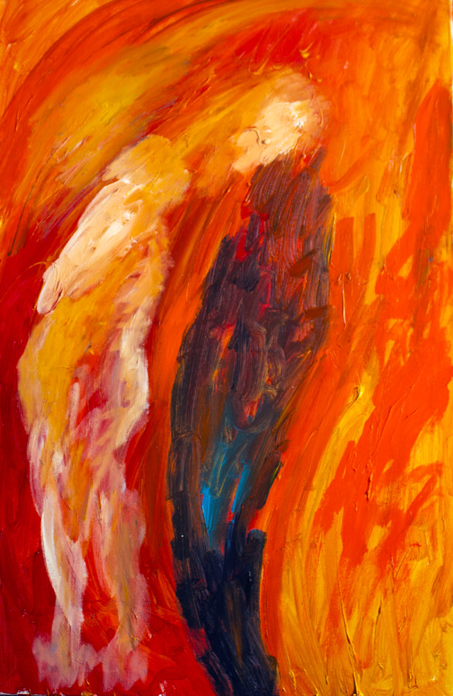 Acrylic painting Seduction by Nathalie Gribinski