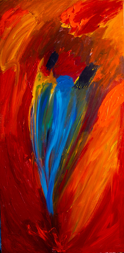 Acrylic painting The Lovers | Les Amoureux by Nathalie Gribinski