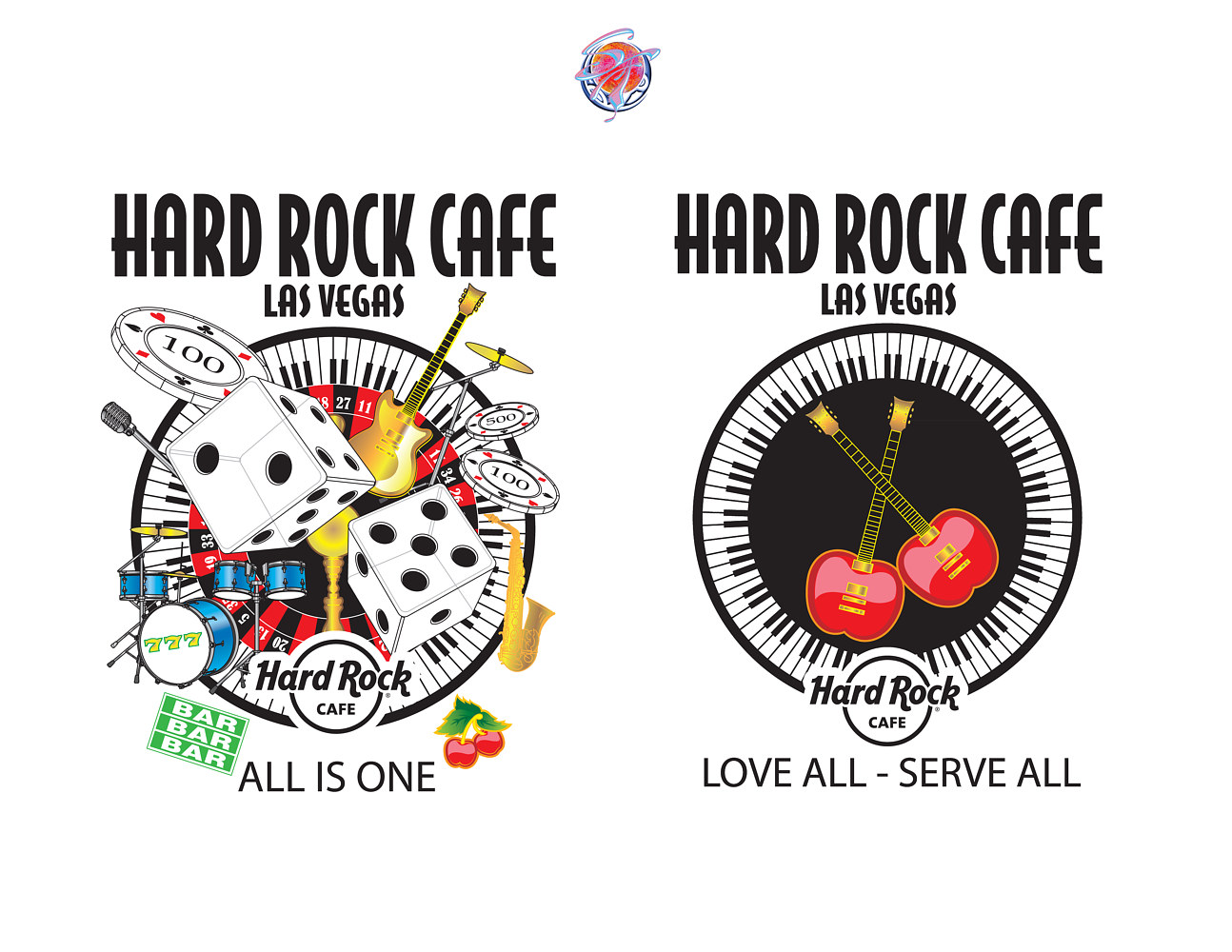 Hard Rock Cafe T-Shirt Art-Vegas by Steve Ferris