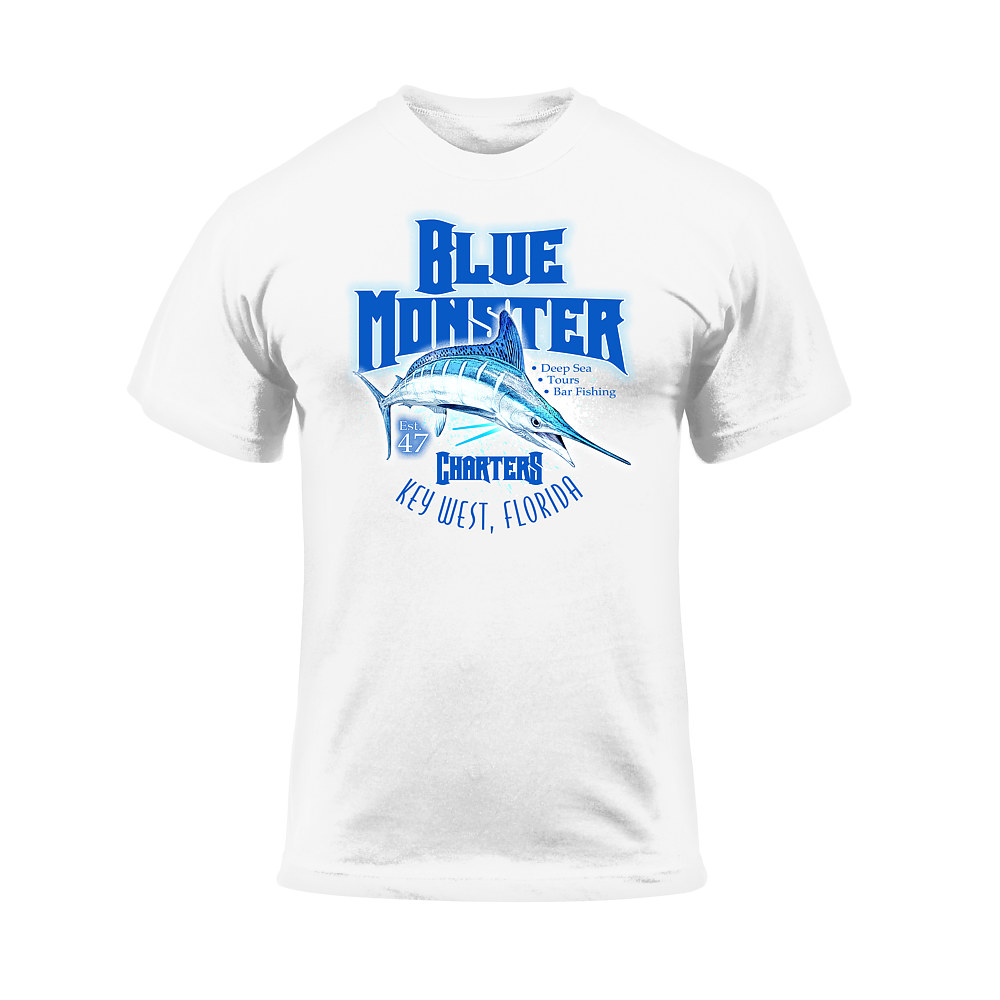 Blue Monster T-Shirt by Steve Ferris