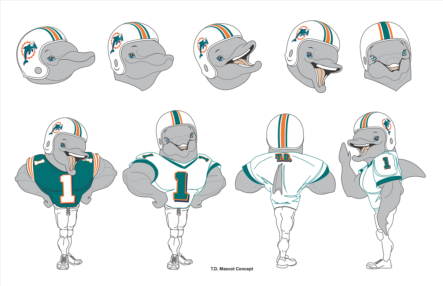 Dolphins Mascot Concepts by Steve Ferris
