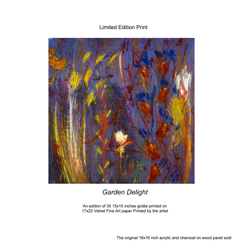 Print Garden Delight Limited Edition Prints by Edward Bock