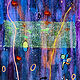 Acrylic painting Night Bloom 36x24 ________(click on the i for info) by Edward Bock