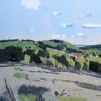 Acrylic painting Richardson's Hill, May 21  by Harry Stooshinoff