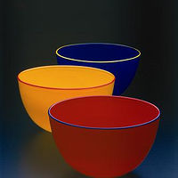Chroma Bowls, 2002 by Joanne Andrighetti