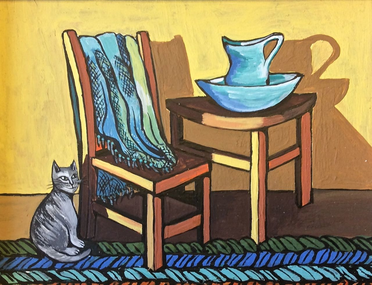 Chair and Table by Melissa Kenyon Mcintyre