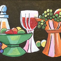 Grapes and Wine by Melissa Kenyon Mcintyre