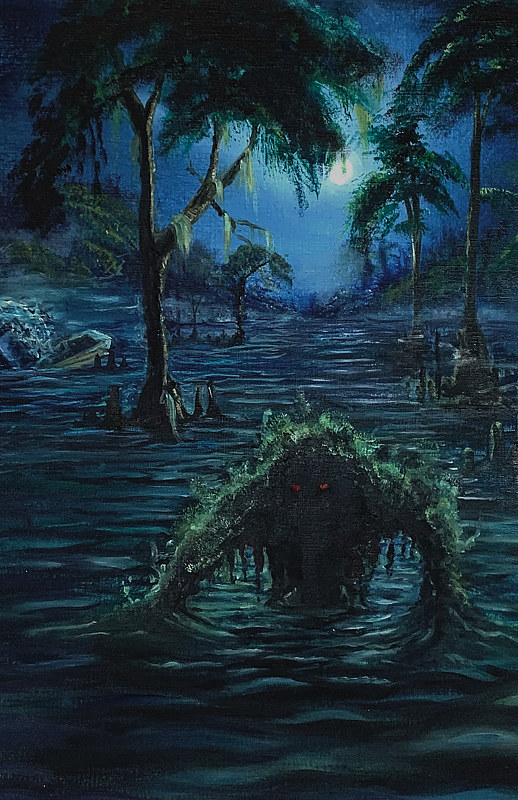 Oil painting Swamp Monster by Adrian Molina