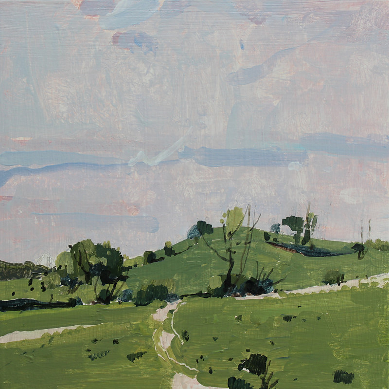 Acrylic painting Secret Field, May 30 by Harry Stooshinoff