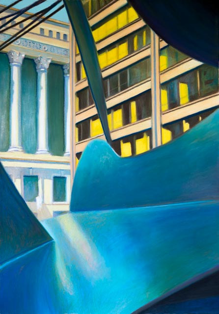 Oil painting The Glass Ceiling And The Glass Curtain by Raymond Noesen