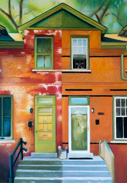 Oil painting A House Divided by Raymond Noesen