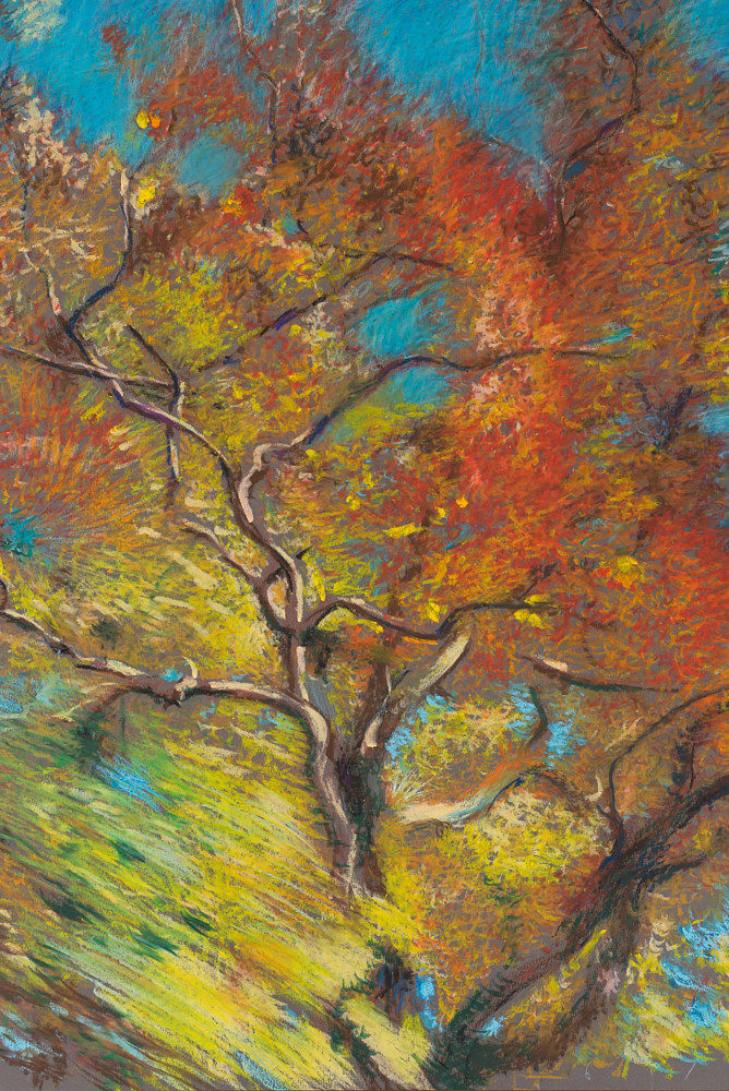 Oil painting Fall leaves by Raymond Noesen