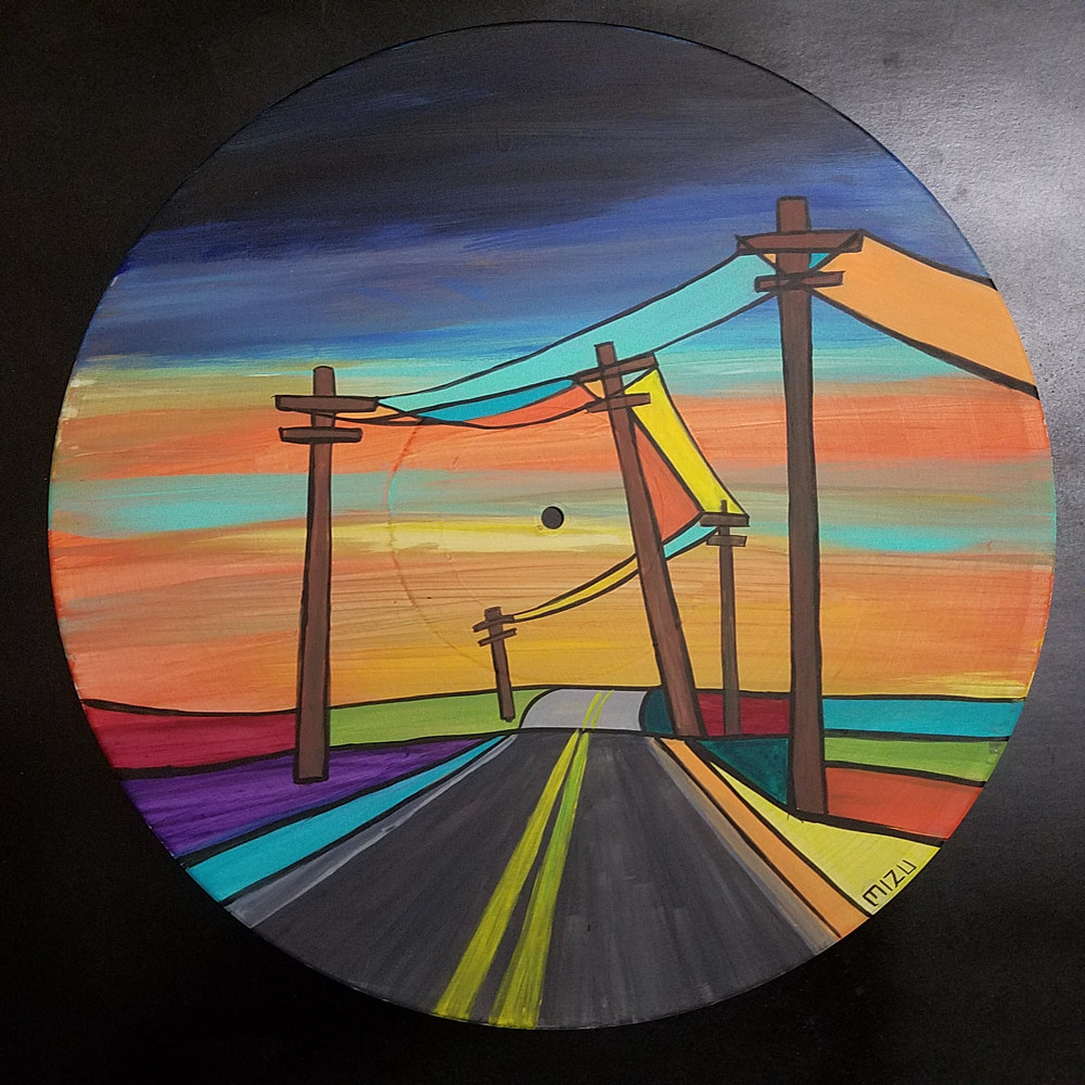 Painting Sunset Road  by Isaac Carpenter