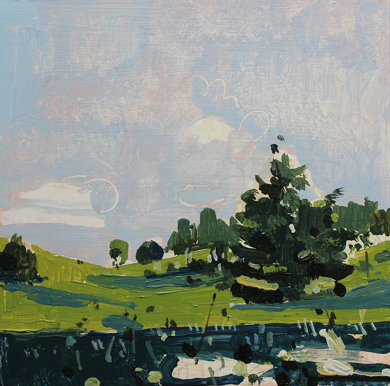 Acrylic painting Home Valley June 2  by Harry Stooshinoff