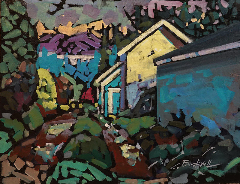 Cottage Lane ll  Acrylic 14x18 2019 by Brian  Buckrell