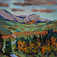Foothills Travel          Acrylic  2019 by Brian  Buckrell