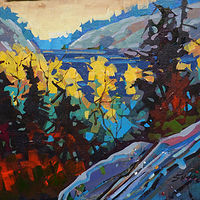 To Open Water  Pukaskwa  Acrylic 14x18 2018_exposure by Brian  Buckrell