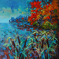 Weekend at the Cottage      Acrylic      2018 by Brian  Buckrell