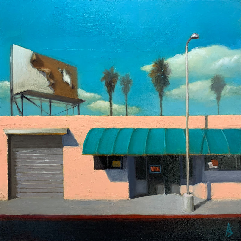 Oil painting Storefront in Sunlight 2 by Alex Selkowitz