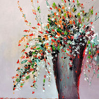 Oil painting Composition with Flowers. by Svetlana Barker