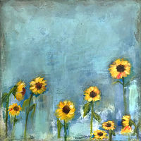 Acrylic painting Sunflower by Drew Marin