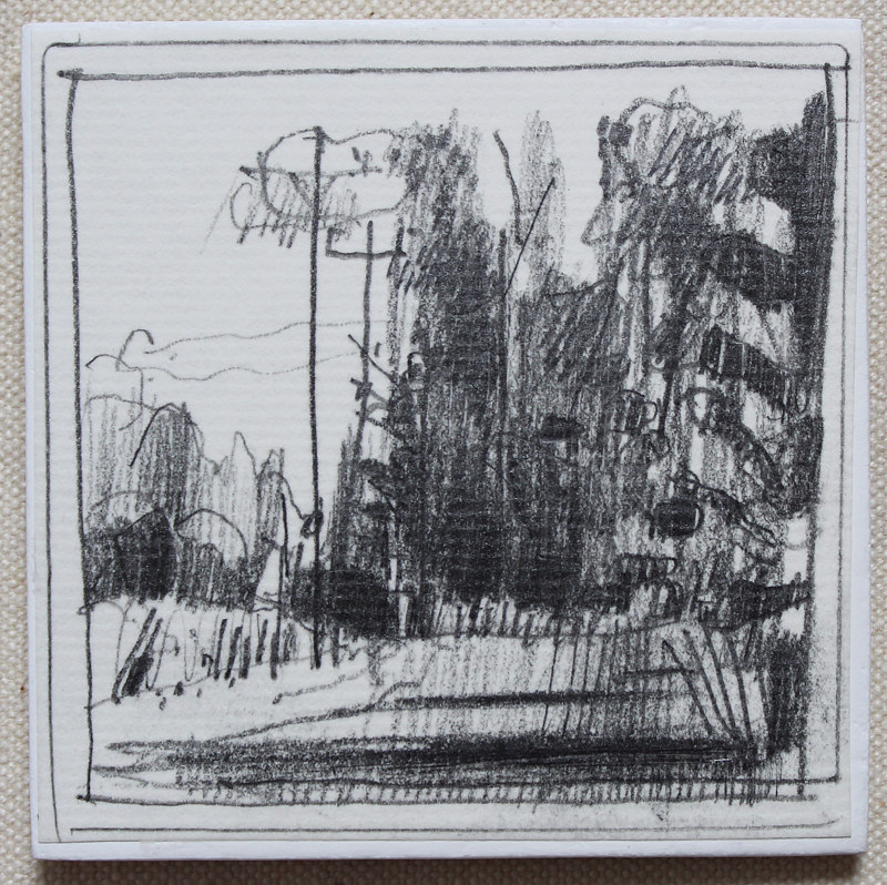 Drawing South Copse by Harry Stooshinoff