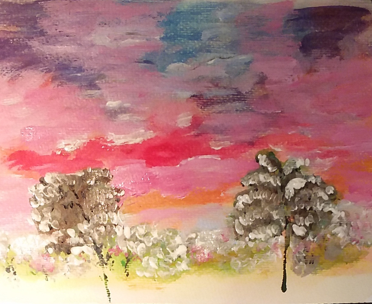 Acrylic painting Glorious Sunset by Gwenda Branjerdporn
