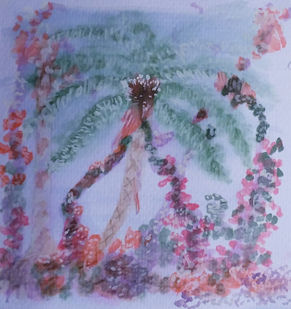 Painting Tree Fern by Gwenda Branjerdporn