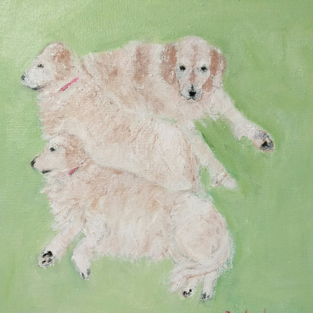 Oil painting Millie, three faces by Gwenda Branjerdporn