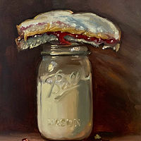 """PBJ & Ball Jar of Milk"" by Noah Verrier"