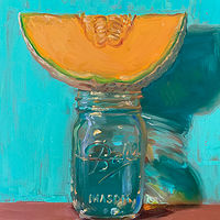 """Cantaloupe & Jar of Water no.2"" by Noah Verrier"
