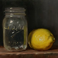"""Lemon & Jar of Water"" by Noah Verrier"