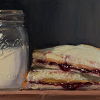 """PBJ & Jar of Milk""  by Noah Verrier"