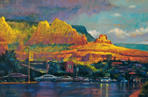 Oil painting After the Morning Rain / Sedona by Kim Fujiwara