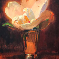 """Magnolia in a Silver Vase no.3"" by Noah Verrier"