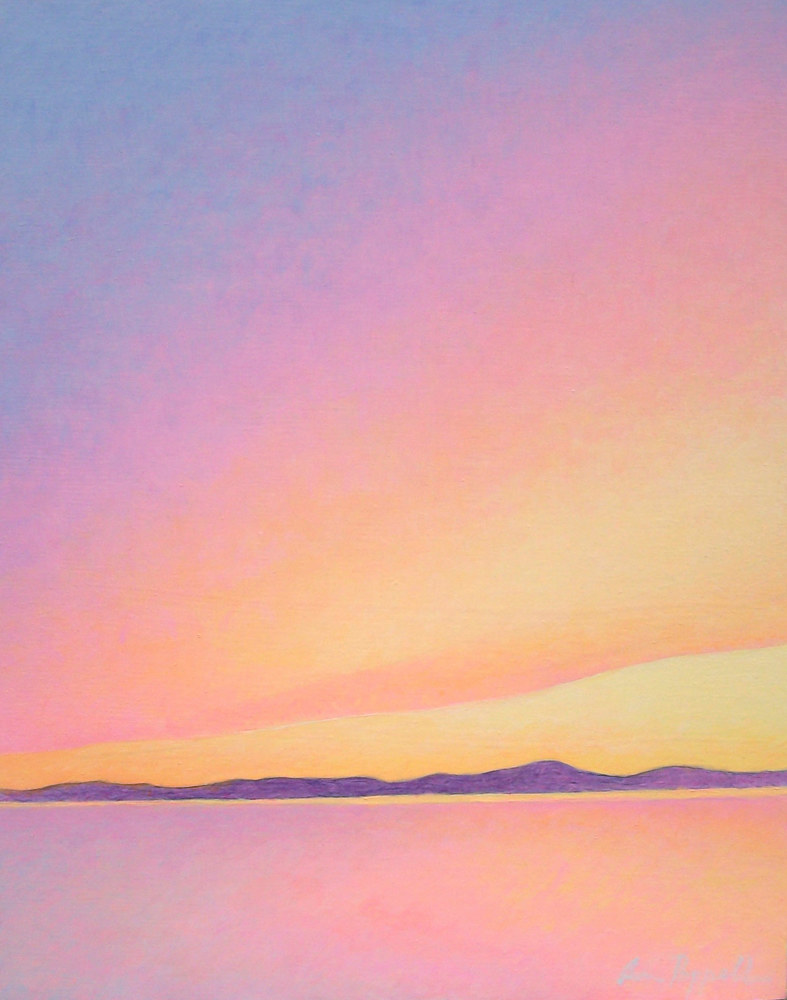 Acrylic painting Sunrise  by Anne Popperwell