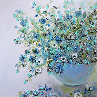 Blue Bouquet by Svetlana Barker